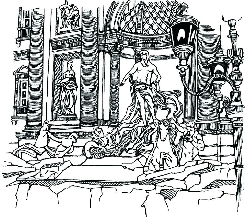 800x708 Coloring Pages Of Italy This Item Is The Scenery Of In Is