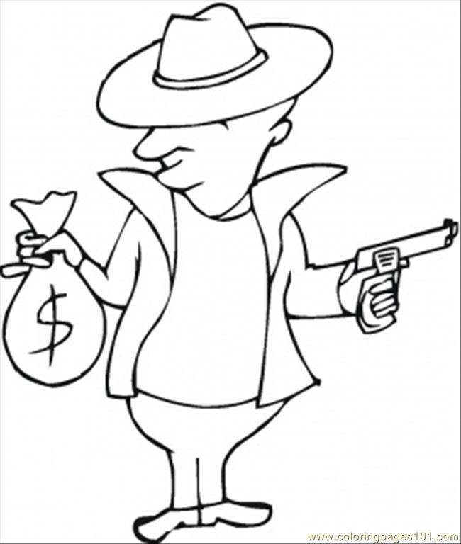 650x768 Guns And Money Coloring Page