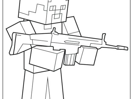 440x330 Machine Gun Coloring Pages Firearm Coloring Pages Attract Coloring