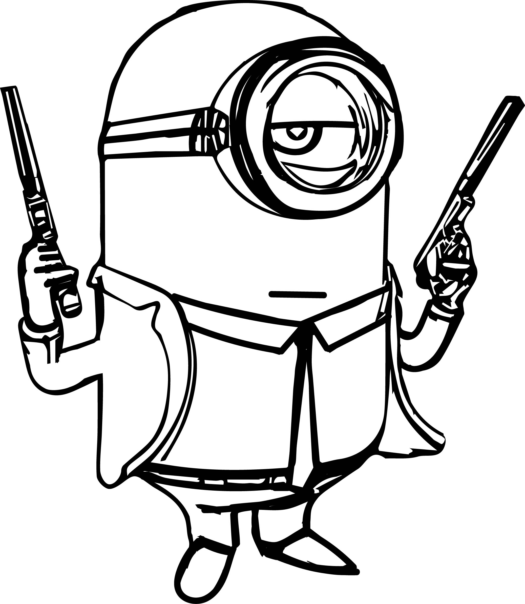 2075x2387 Minion Gun Coloring Page Wecoloringpage In Pages