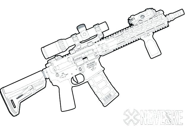 640x427 Nerf Gun Coloring Pages Icontent