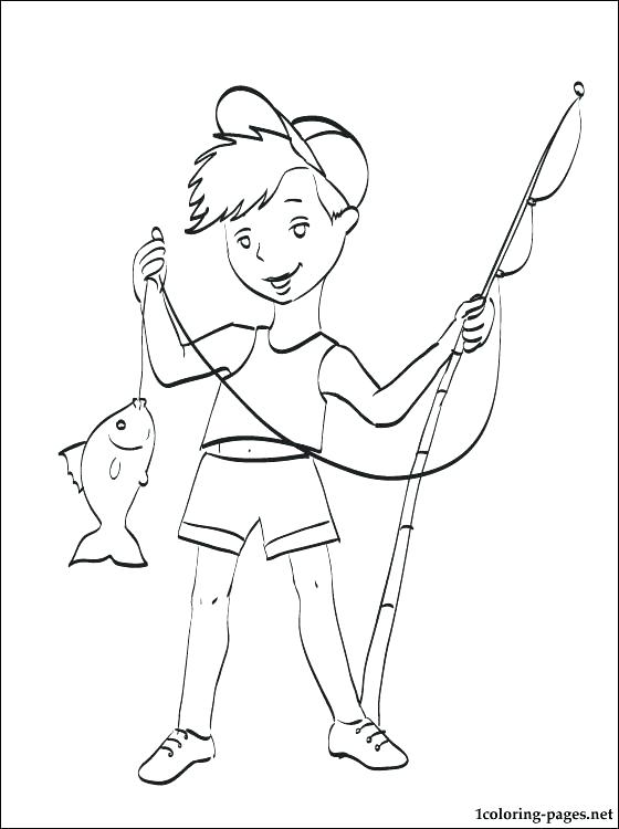 560x750 Fishing Pole Coloring Page Fishing Rod Coloring Pages Fishing