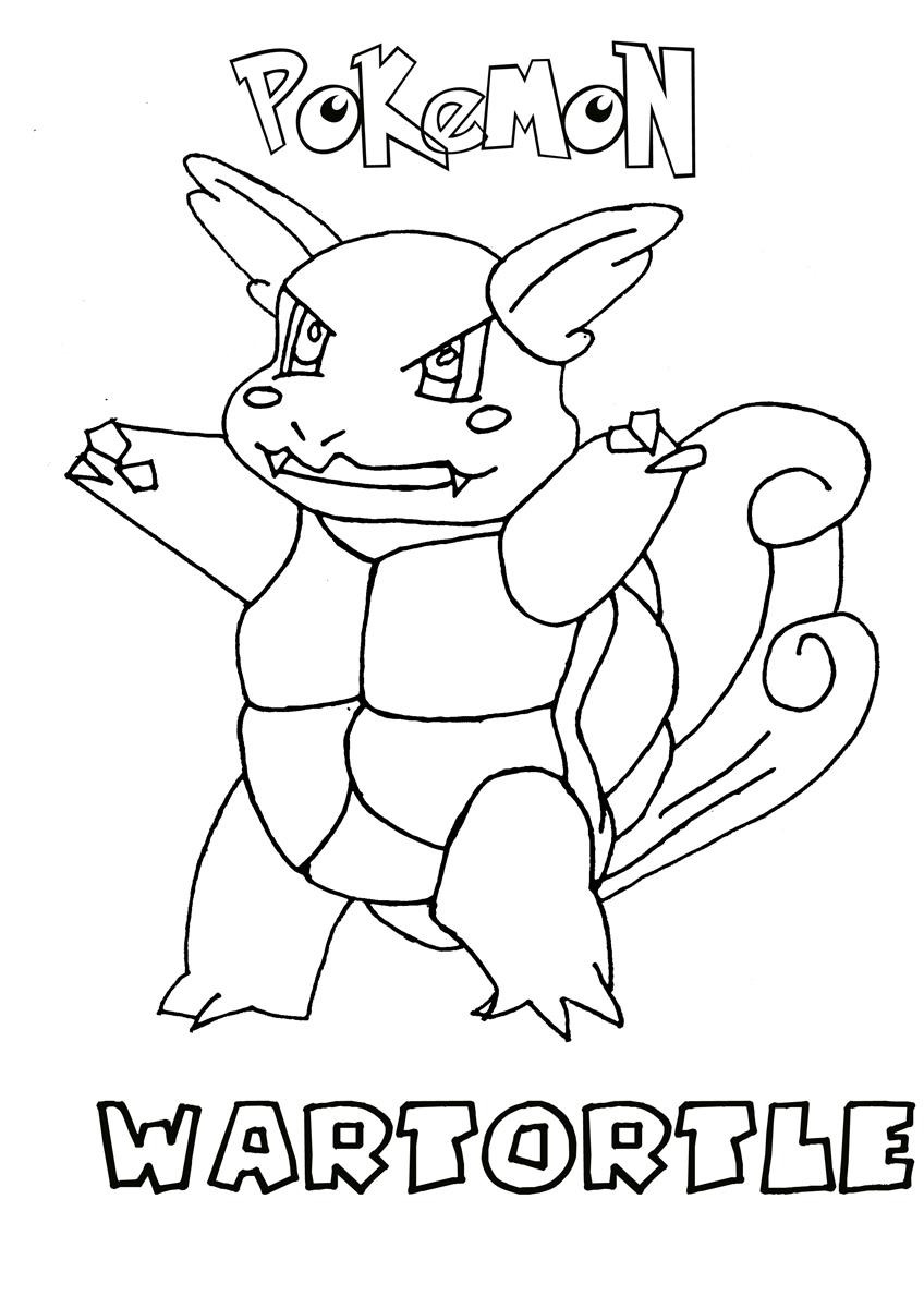 Water Pokemon Coloring Pages