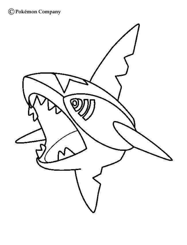 651x850 Sharpedo Pokemon Coloring Page More Water Pokemon Coloring Sheets