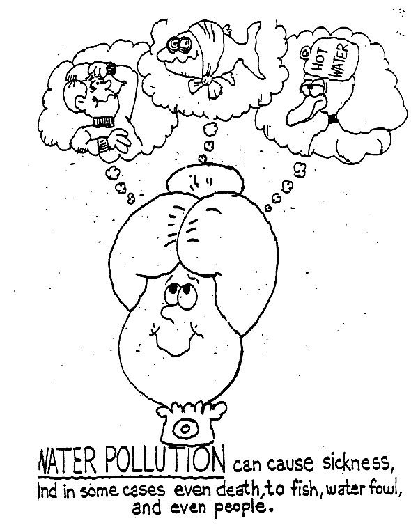 Water Pollution Coloring Pages