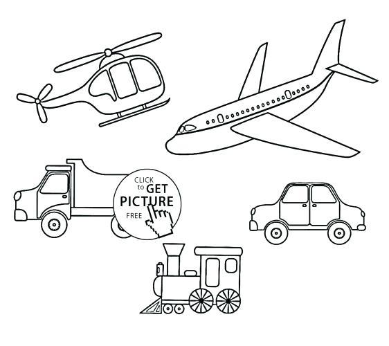 562x500 Transportation Coloring Page Medium Size Of Transportation