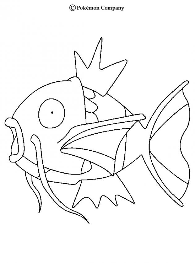 630x850 Magikarp Coloring Pages