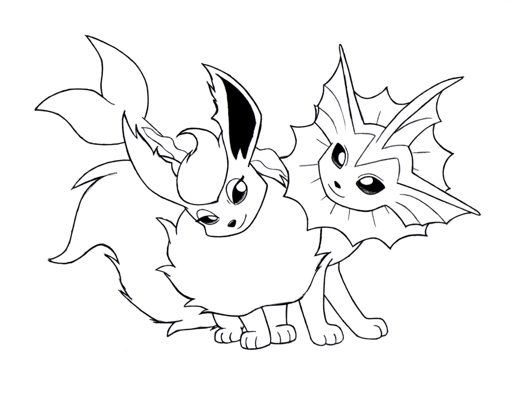 1024x775 Awesome Pokemon Eevee Evolutions Coloring Pages Gallery