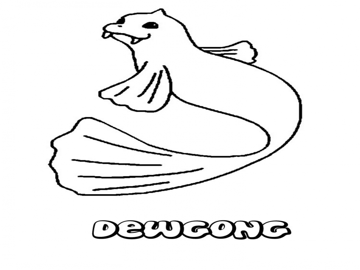 1152x864 Water Type Pokemon Coloring Pages Water Dewgong