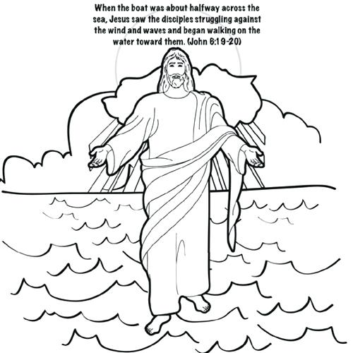 500x500 Water Coloring Page Walks On Water Coloring Page Free Water Cycle