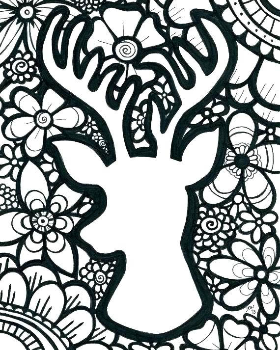 570x713 Deer Coloring Page Deer Color Pages Coloring Pages Deer Pen