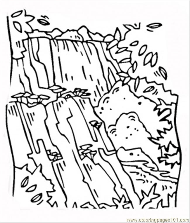 650x760 Waterfall Victoria Coloring Page