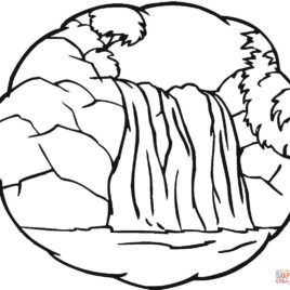 268x268 Coloring Page Waterfall Kids Drawing And Coloring Pages