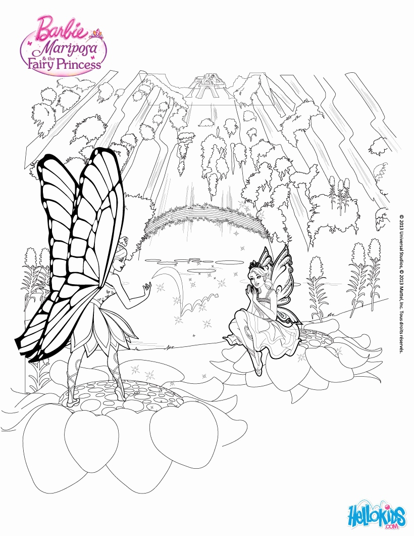 Waterfall Coloring Pages For Kids