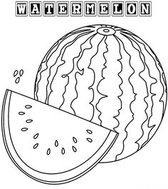 236x265 Fresh Image Of Watermelon Coloring Page Fruit Coloring Page
