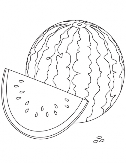 420x542 Watermelon Coloring Page Download Free Watermelon Coloring Page