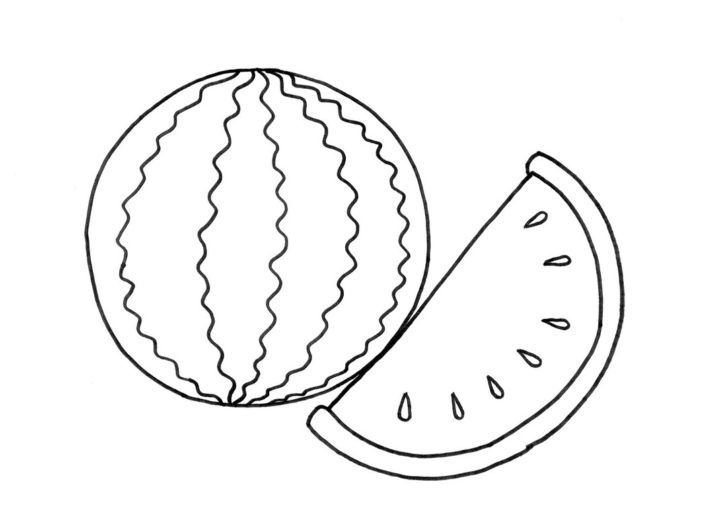 728x519 Watermelon Coloring Pages Coloring Pages Kids
