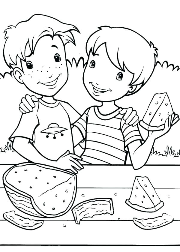 600x840 Printable Printable Watermelon Coloring Sheets