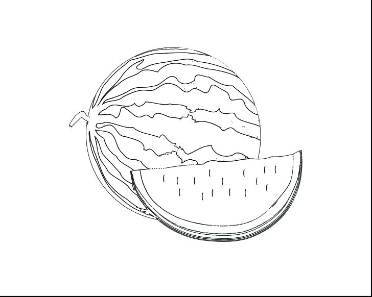 728x582 Watermelon Coloring Page