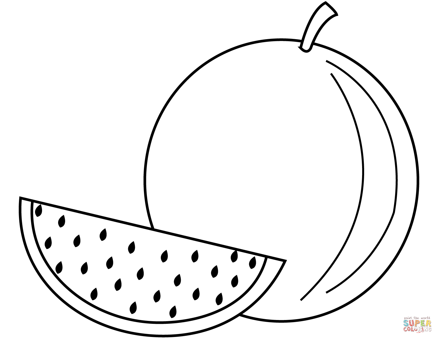 1500x1160 Watermelons Coloring Pages Free Coloring Pages Watermelon Coloring