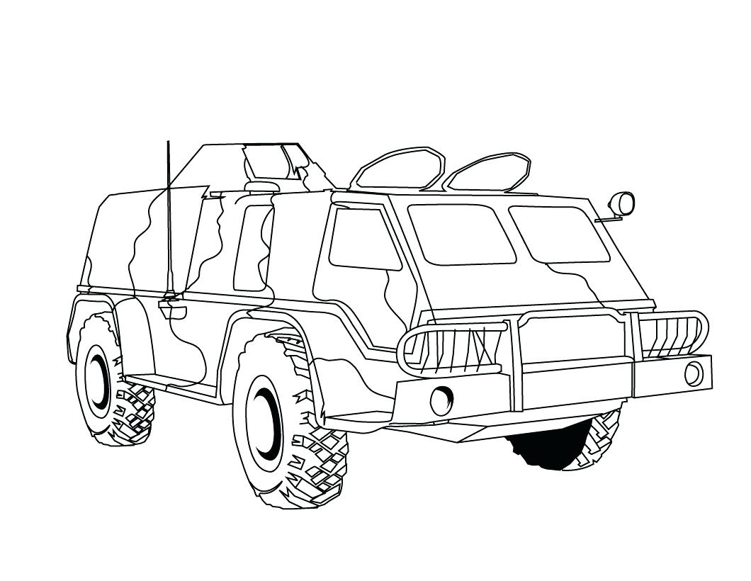 1060x820 Garbage Truck Coloring Pages Printable Outline Military Dump