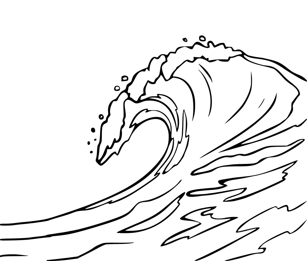 Waves Coloring Page