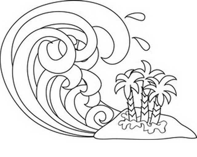 640x510 Tsunami Wave Coloring Page Tsunami Tsunami Waves