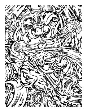 281x363 Waves Coloring Page