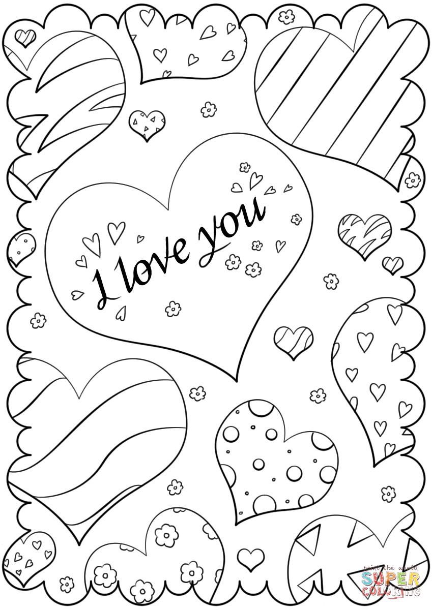 849x1200 Free Printable I Love You Coloring Pages For Adults Wagashiya