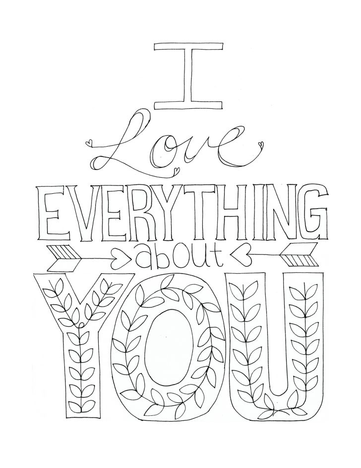 728x942 Free Printable I Love You Coloring Pages For Adults Humorous Page