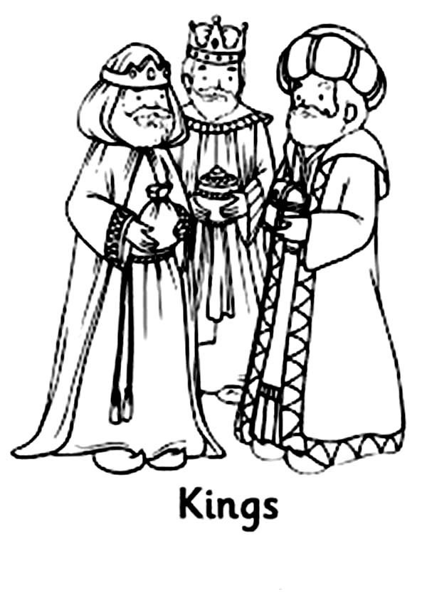 We Three Kings Coloring Pages