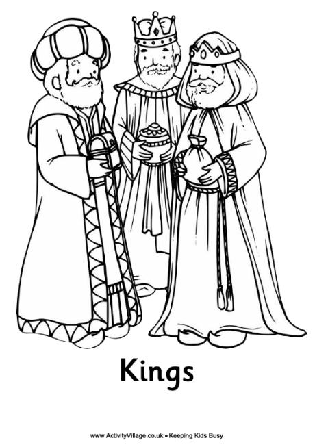 460x653 Nativity Colouring Page