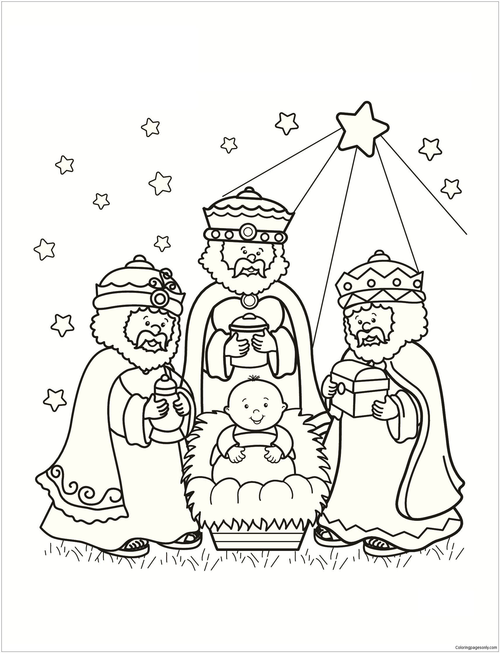 1713x2239 Reduced Free Coloring Pages Of The Three Wise Men Kings Colouring