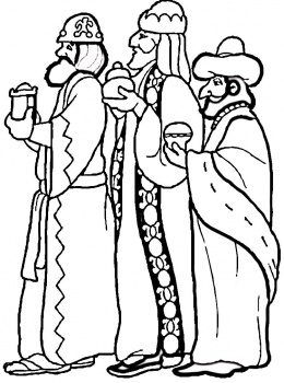 260x350 Three Kings Day Coloring Page