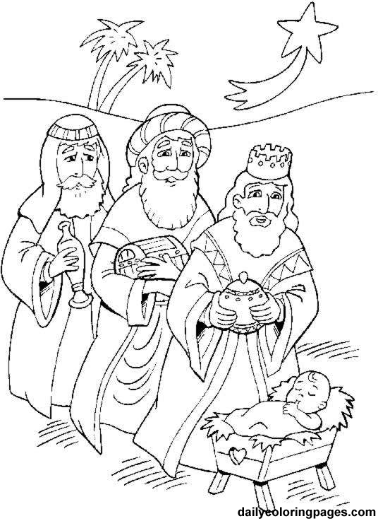 536x737 Three Wise Men Coloring Pages
