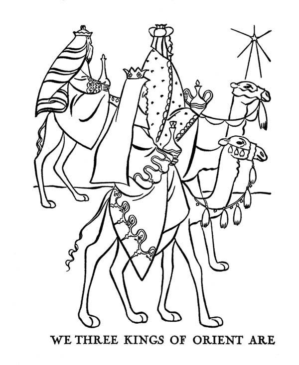 600x734 We Three Kings Of Orient Are Coloring Pages Batch Coloring