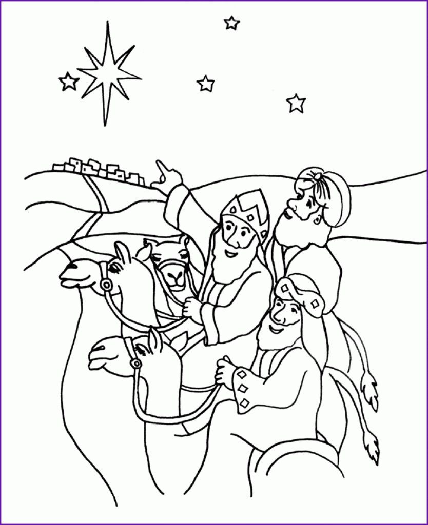 834x1024 Wise Men Coloring Page Az Pages Pertaining To Fine We Three Kings