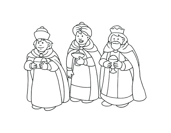 600x465 Wise Men Coloring Pages Print This Three Kings Coloring Page Best