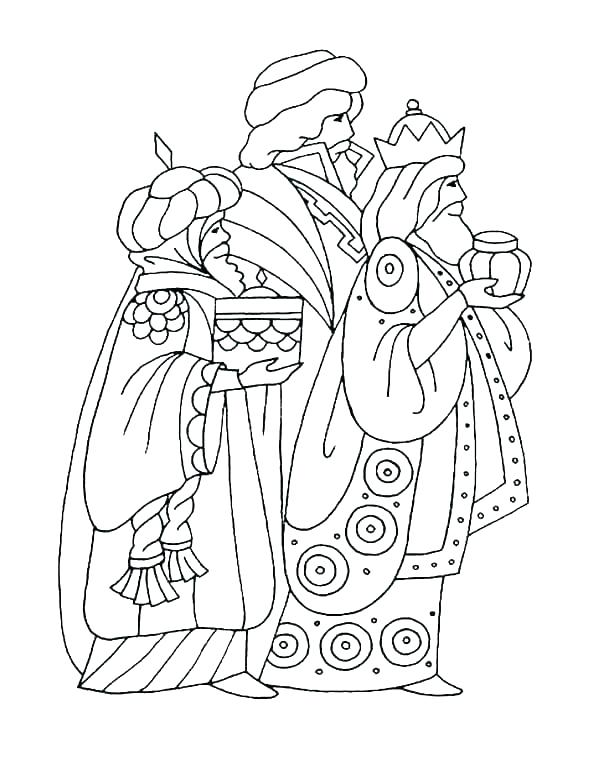 600x776 Three Kings Coloring Pages Grandmaman Site