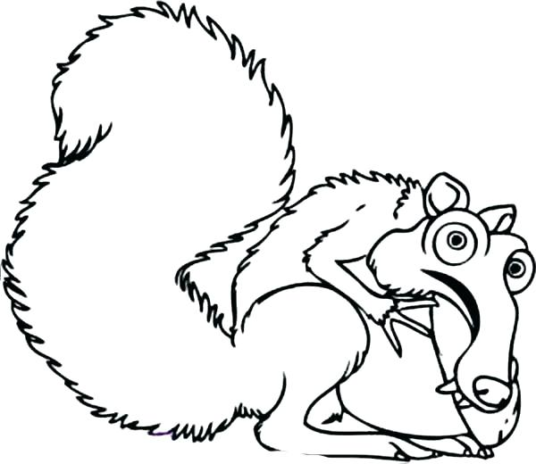 600x520 Weasel Animal Coloring Pages Weasel Coloring Page For Kids Color