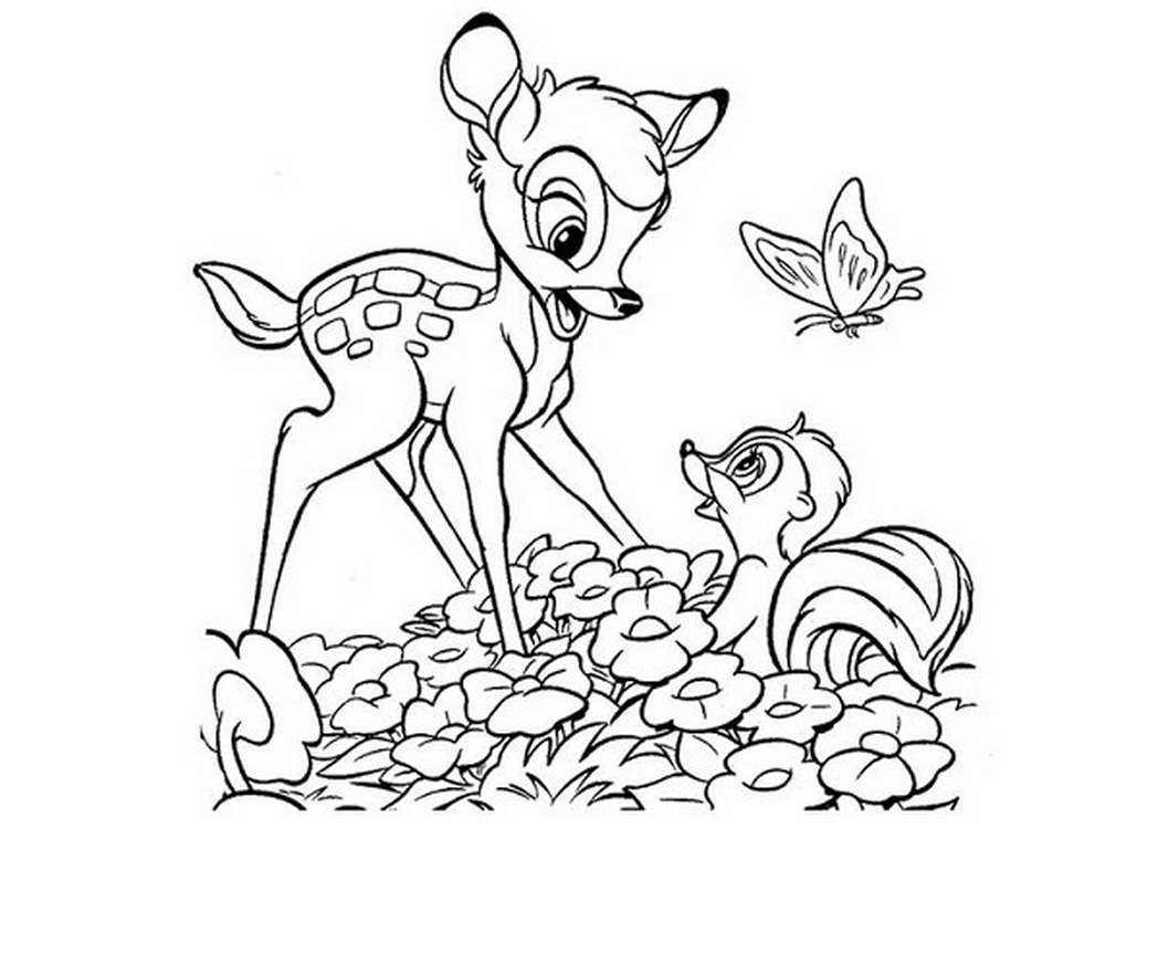 1048x873 Bambi And Weasel Coloring Pages Trend Coloring Pages