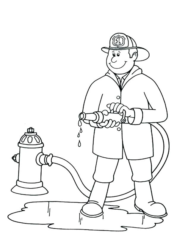 595x842 As Well As Community Helpers Coloring Sheets Free Printable