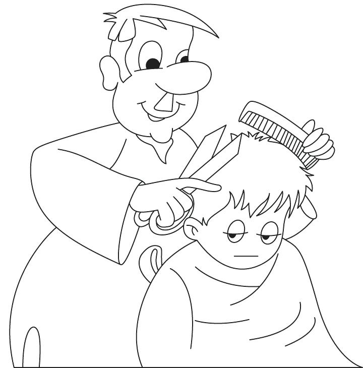 720x730 Coloring Pages Of Community Helpers Veterinarian Checking