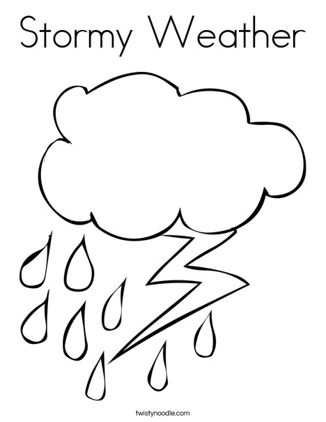 468x605 Stormy Weather Coloring Page