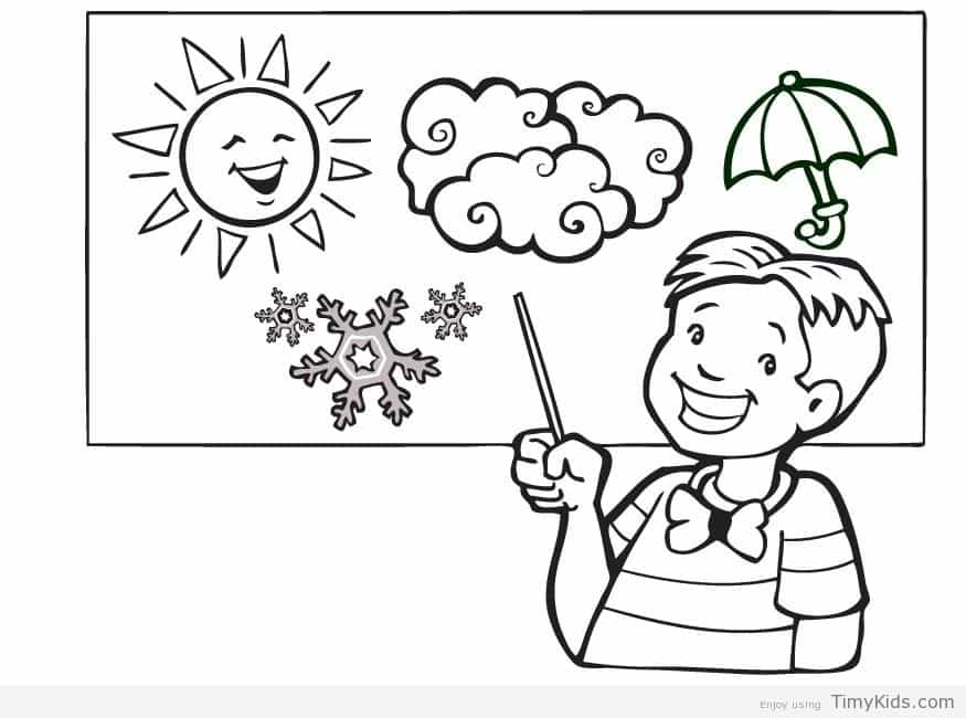 875x650 Weather Coloring Pages Weather Coloring Page Timykids Free