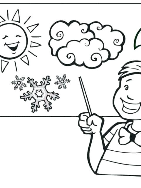 480x640 Coloring Pages Weather Weather Coloring Weather Coloring Page