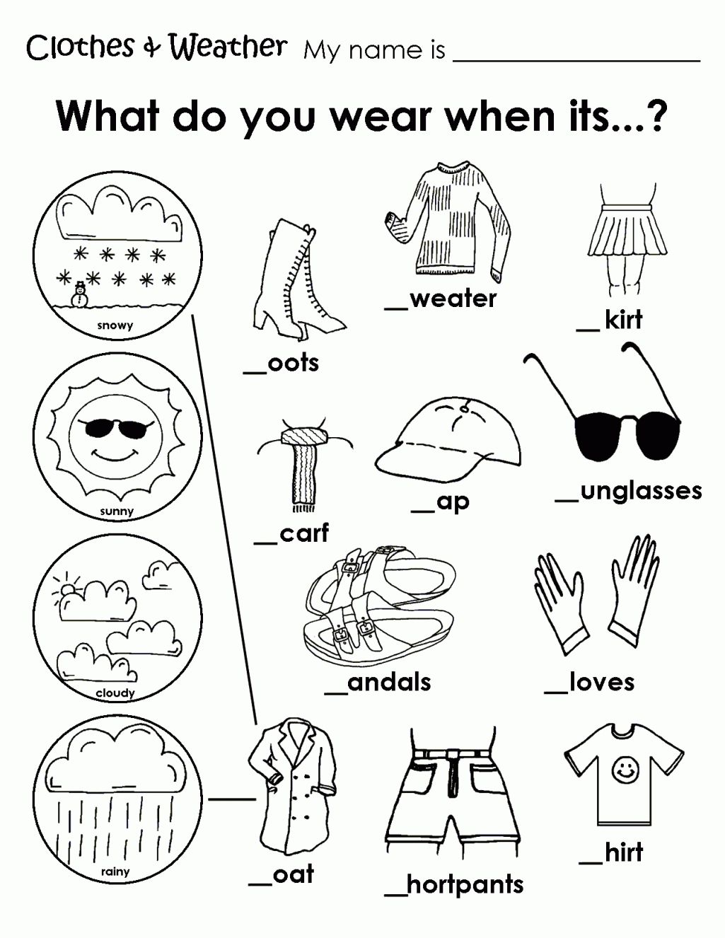 1025x1326 Free Coloring Pages Of Clothing Worksheet Weather Coloring Sheets