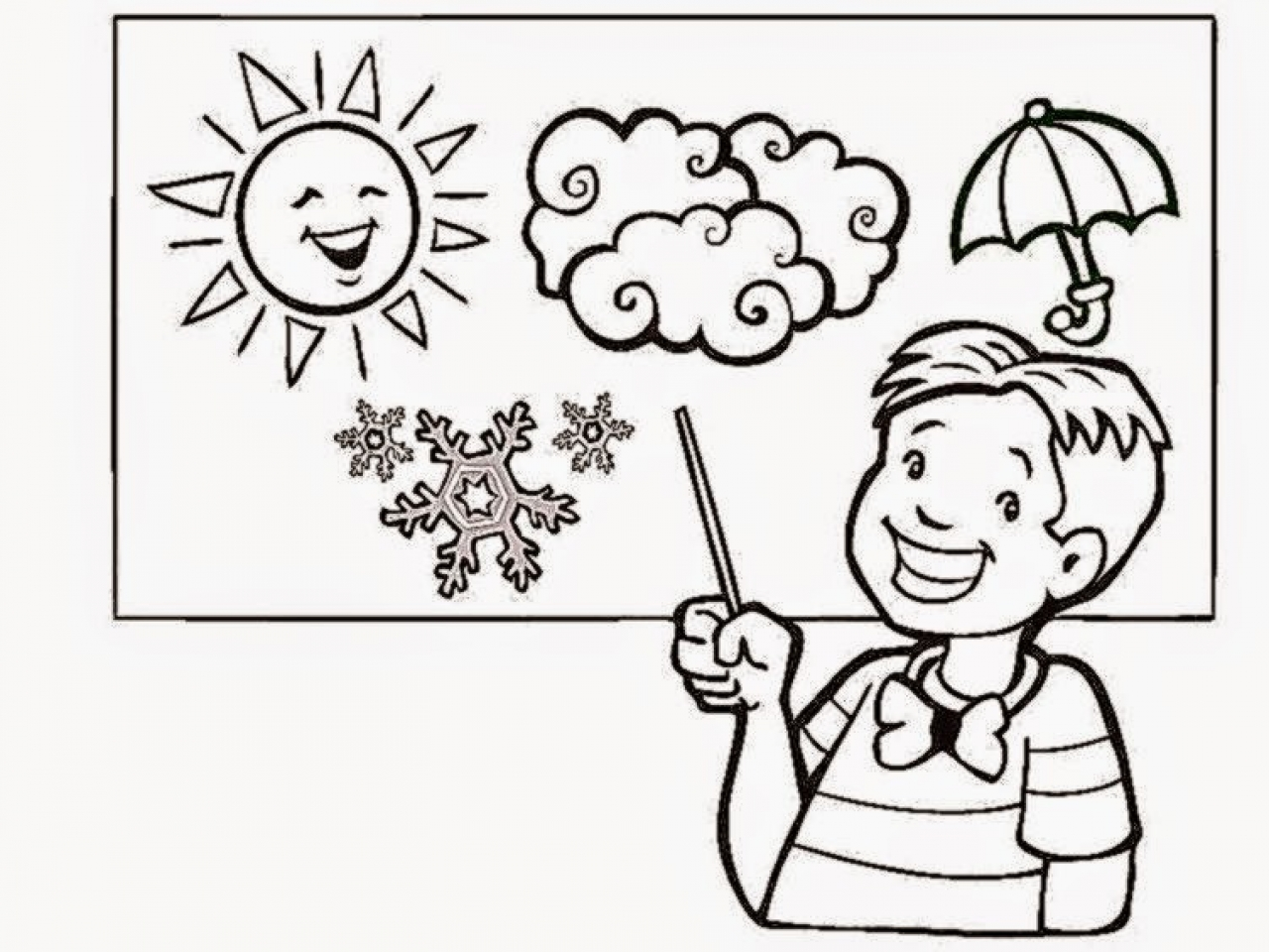 1280x960 Fun Weather Coloring Pages For Kids Free