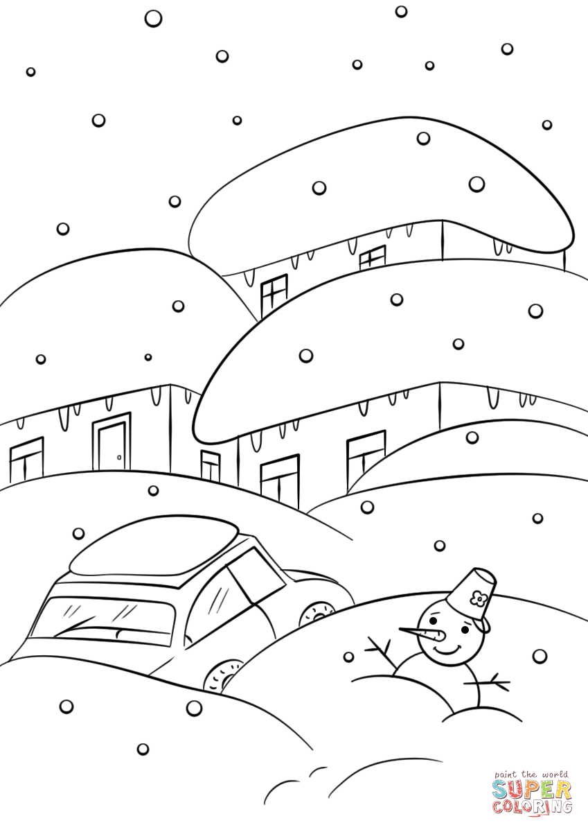 849x1200 Important Weather Coloring Sheets Winter Page Free Printable Pages