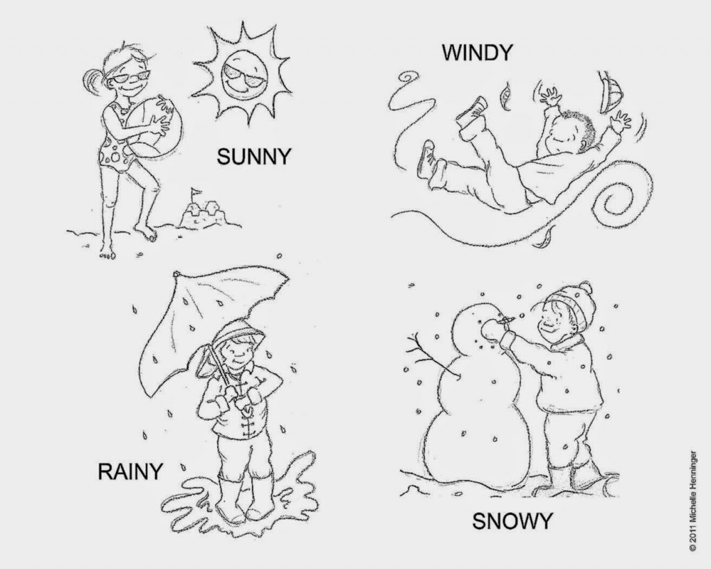 1024x820 Revisited Weather Colouring Sheets Coloring Pa